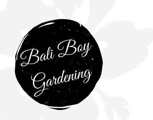 Bali Boy Gardening