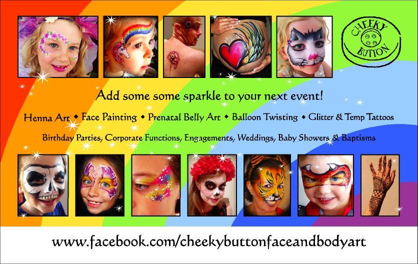 Cheeky Button Face & Body Art